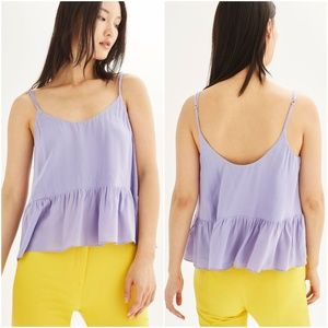 Topshop 8 Relaxed Peplum Camisole Top